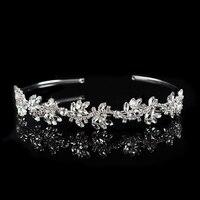 Cabelo Noiva Handmade Wedding Tiara Headband Crystal Flower Head Piece Bride Vintage Bridal Headpieces Hair Jewelry