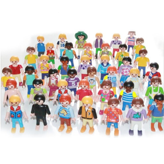 10pc 7cm playmobil figures toy set 2017 new playmobil police pirate princess horse house action figurines - Playmobile Police