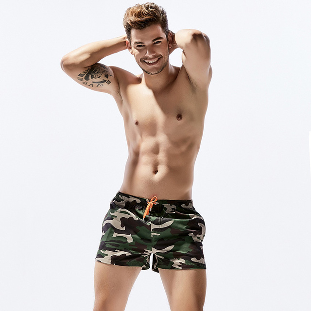 New Quick Drying Men's Board Shorts Camouflage fashion Beach Summer Beach Short Pants  2 Color Choice