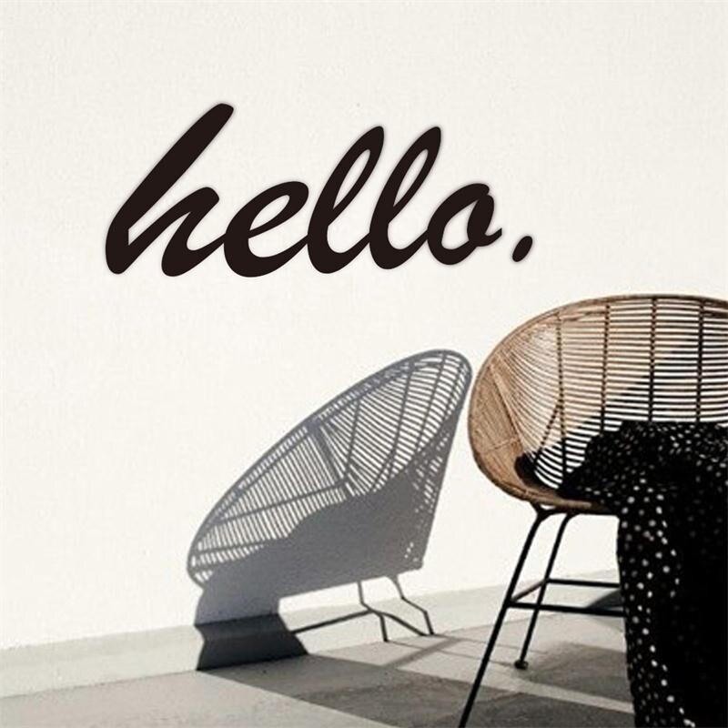 Citaten Koffie English : Moderne populaire hello engels quotes muurstickers home decor