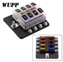 цена на WUPP Auto 32V 8 Way Fuse Box Block Waterproof Fuse Holder Box Circuit Car Blade Car Fuse Accessory With Led Indicator Screw Term