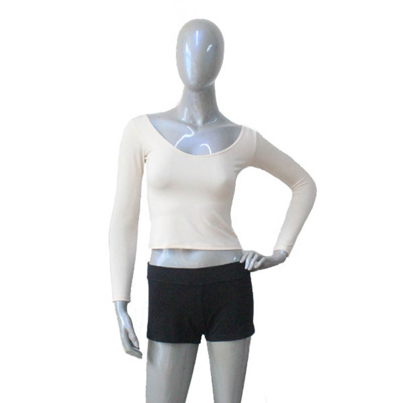 Dancer's Choices Retail Skin Color Lycra Made Long Sleeve Tight Top for Dance Practice or Show Ladies and Girls Sizes Available