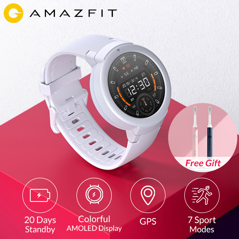 AMAZFIT Smartwatch Heart-Rate-Monitor Verge-Lite 20-Days-Battery-Life Original Amoled-Screen