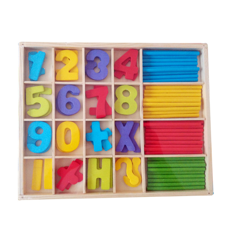 Brand New Colorful Montessori Teaching Math Mathematics Number Wood Board Preschool Educational Development Toy Child Gift W208