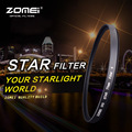 Zomei 58 мм Звездный Свет Объектив Фильтры Спецэффектов Фильтров с 4/6/8 Баллов для Canon 18-55-250 Камеры DSLR Nikon