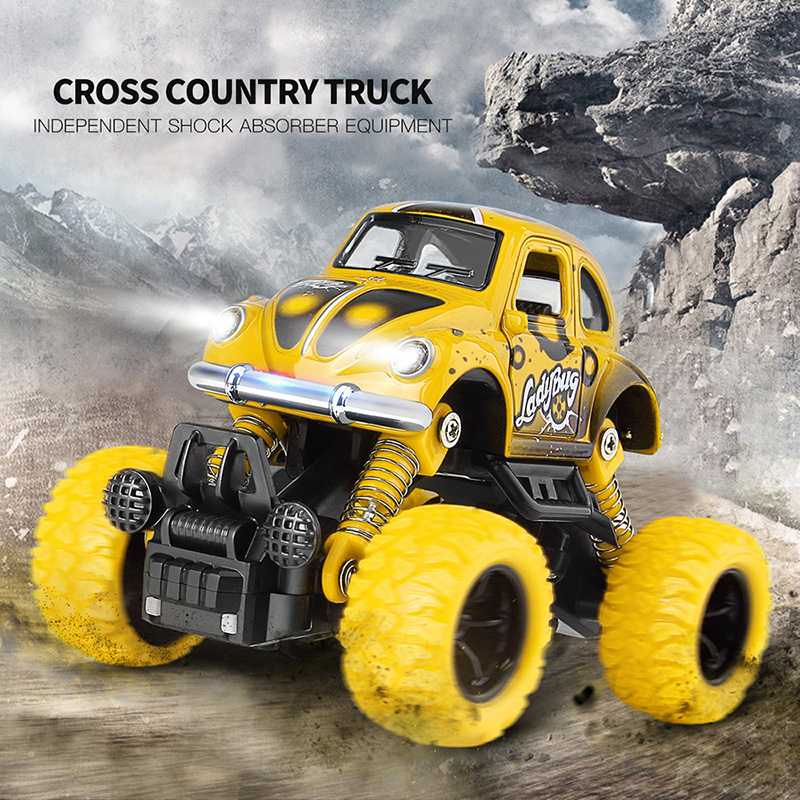1:36 Alloy Pull Back Cross Country Car Toy Elastic Damping Brinquedos Diecast Model Vehicla Car Toys For Boys Toys Children Gift