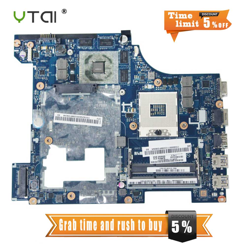 YTAI LA-7981P Rev:1.0 For Lenovo G580 laptop motherboard GT635M QIWG5_G6_G9 LA-7981P Rev:1.0 DDR3 HM65 Mainboard fully tested ytai d630 ibq00la 3302p rev 1 0 a00 laptop motherboard independent 2 pieces video memory for dell d630 test and free shipping