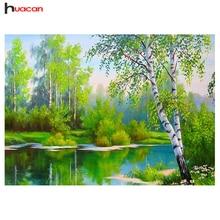 HAUCAN DIY 5D Diamond Painting Tree Needlework Craft Gift Full Square Diamond Mosaic Embroidery Scenery Home Decoration F1103