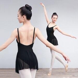 Image 2 - Volwassen Een Stuk Ballet Turnpakje Jurk Vrouwen Dames Mouwloze Gymnastiek Ballet Dans Turnpakje Met Mesh Rokken Ballerina Kostuums