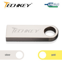 usb flash drive 32GB 16GB pendrive 8GB 4GB Waterproof Metal Silver pendrive with key ring pen drive disk Memory Stick Best Gift(China)