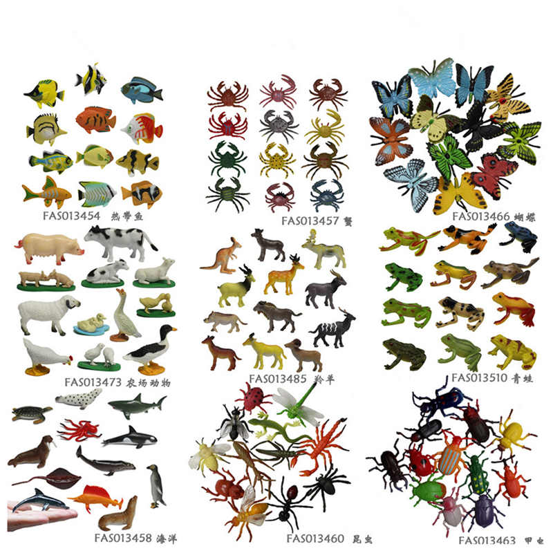 12pcs/set Insect Beetle Marine organism models figures figurines set toy plastic Simulation Lizard Sea turtle Shark penguin toys mr froger carcharodon megalodon model giant tooth shark sphyrna aquatic creatures wild animals zoo modeling plastic sea lift toy