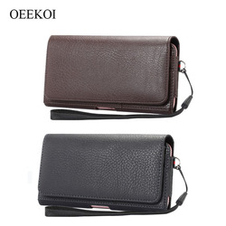 OEEKOI Lichee Pattern Card Slots Holder Pouch Case for Bluboo Maya Max 6Inch