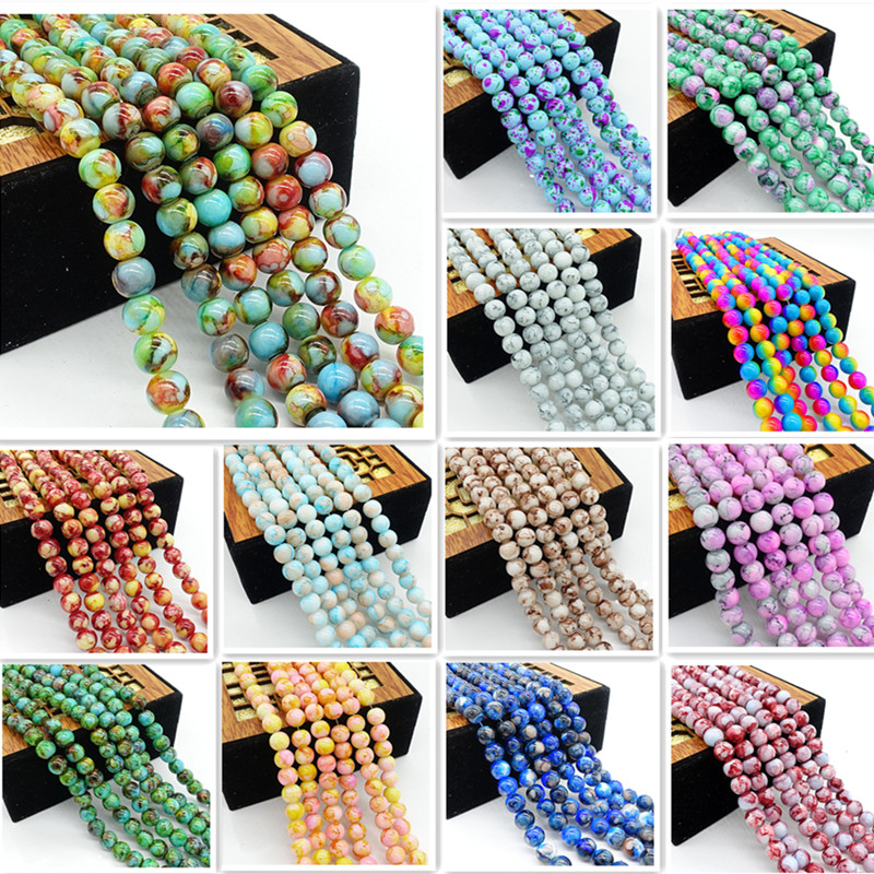 New 1000 pcs 2mm mixing Glass Pearl Spacer Loose Beads Jewelry Making Wholesale