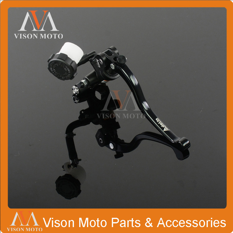 Billet CNC Hydraulic Brake Clutch Lever Master Cylinder For Pro X Motorcycle MX Scooter ATV Quad Dirt Pit Bike 17.5X18 Pot alloy asv f3 series 2nd clutch brake folding lever for most motorcycle atv dirt pit bike modify parts spare parts supermoto