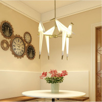 Nordic Chandelier Bird LED Kitchen Dining Bar Pendant Lamps Bedroom Living Room Decorative Hanging Lamp Hanglamp Luminaire Avize