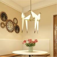 Nordic Chandelier Bird LED Kitchen Dining Bar Pendant Lamps Bedroom Living Room Decorative Hanging Lamp Hanglamp Luminaire Avize