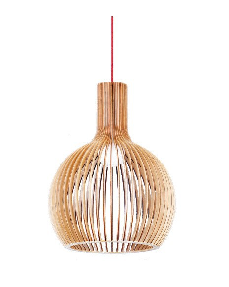 Ems Free Shipping E27 Pendant Lamp Handmade Light Bentwood Suspended Lighting Wooden Shade Hanging Lbmp