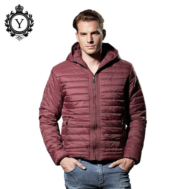 COUTUDI Men s Ultralight Winter Jackets Waterproof Puffer Jacket For Men  Brand Clothing Design Casual Wine Red Hooded Parka Men 802bc3dcb