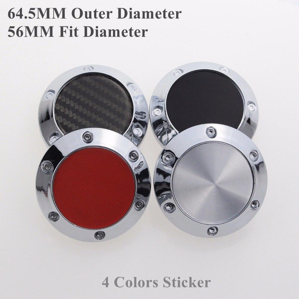 64.5MM Wheel Hubcaps With Blank Logo Sticker For Car Rims No Emblems Centre Cap SET OF 4 KOM POWER KP64556458B