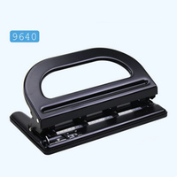 9640 4 Holes Paper Puncher, Adjustable Stainless Steel Desktop Hole Punch, 30 Sheets Capacities