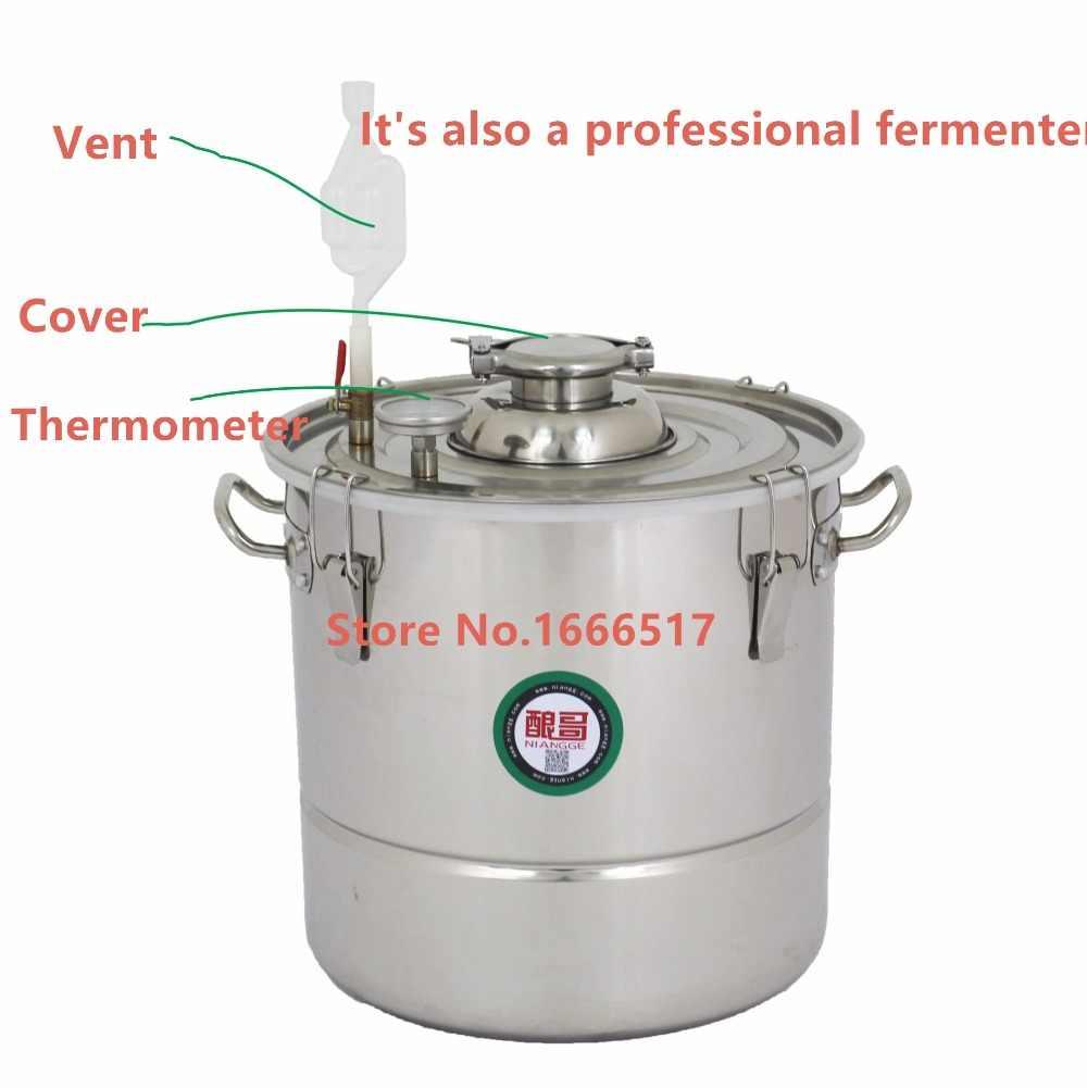 30L АЛКОГОЛЬ нержавеющей дистиллятор набор для домашнего изготовления напитков Самогон Еще вина кипятильный Качество NE