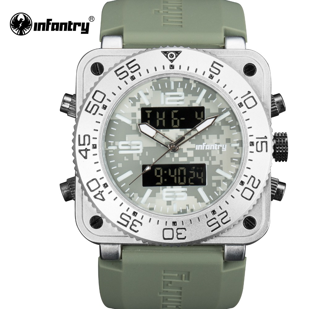 INFANTRY Military Watch Men LED Digital Wristwatch Mens Watches Top Brand Luxury Dual Time Tactical Big Army Relogio MasculinoINFANTRY Military Watch Men LED Digital Wristwatch Mens Watches Top Brand Luxury Dual Time Tactical Big Army Relogio Masculino