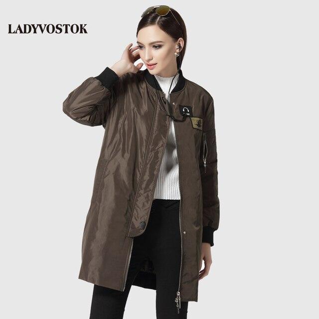 LADYVOSTOK женское пальто модный ветровка мода наушники парка женская длинный 17-081