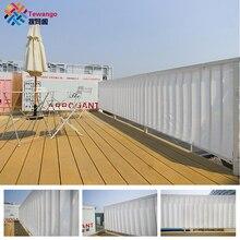 Tewango Индивидуальный размер Домашний балкон экран конфиденциальности белый серый забор палуба тени парус двор крышка Анти-УФ солнцезащитный экран защита от ветра