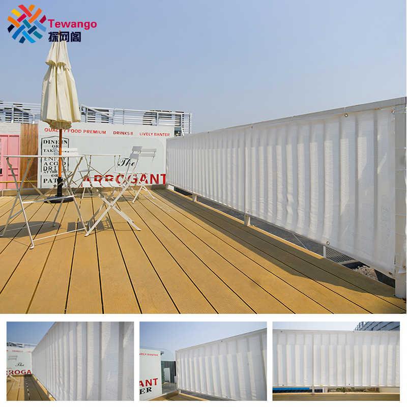 7535cfd6e64a Tewango Custom 2.4 FT x 20FT Home Balcony Privacy Screen Gray Fence Deck Shade  Sail Yard