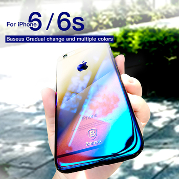 Baseus For iPhone 6 Case Luxury Plating Gradient Plastic Case For iPhone 6s 6 Plus Ultra Thin Blue Ray Light Phone Cover Coque 2