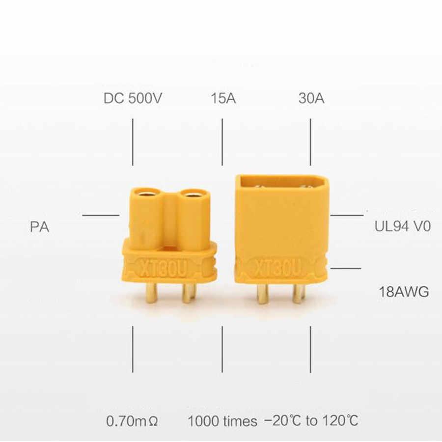 1 ペア XT30UPB XT30 UPB 2 ミリメートルプラグ男性女性ブレットコネクタプラグ rc リポバッテリー 20% オフ