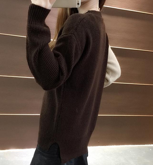 vert Hiver À Envoyer Confortable jaune Style Et Tête Ensemble marron Lâche Automne Noir Nouveau Femmes Coréenne Chandail Livraison 2018 Longues Manches zHqSR6nWa