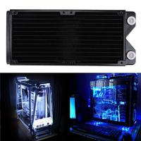 240mm Pure Copper Water Cooled Exchanger Water Cooling Computer Heat Sink Radiator with Screw Pack/Rubber Pad