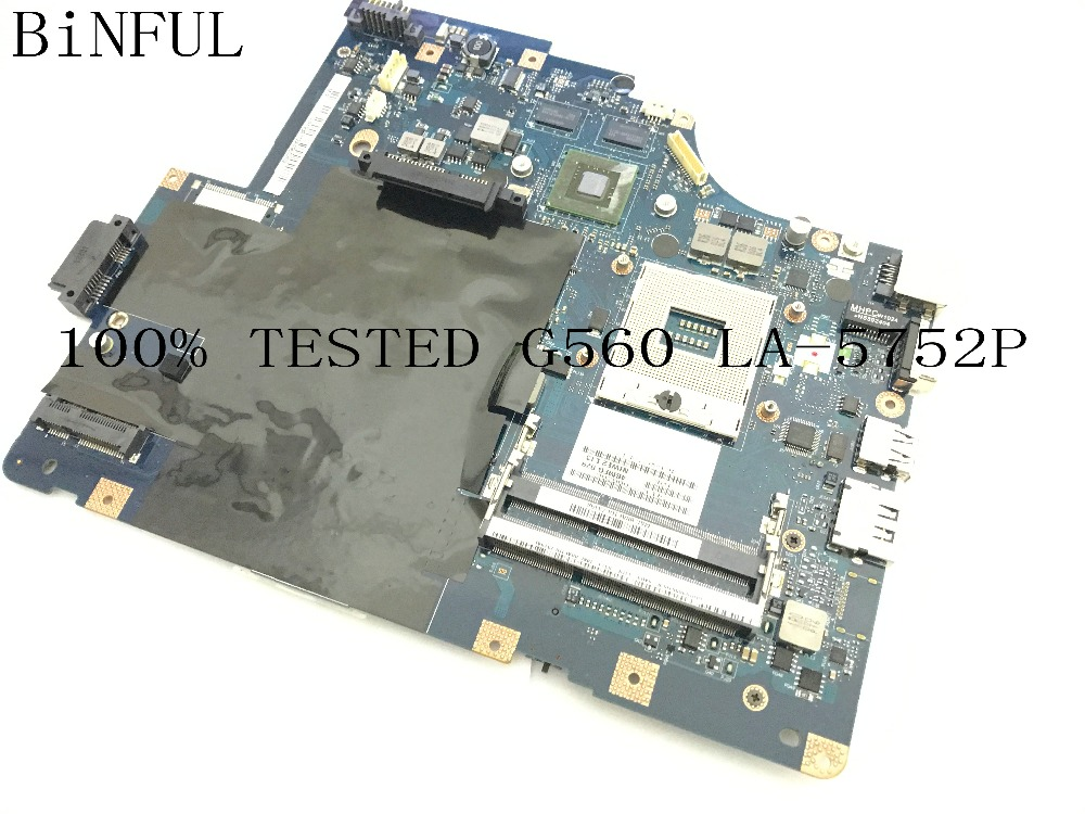 BiNFUL 100% NEW SUPER STOCK NIWE2 LA-5752P LAPTOP MOTHERBOARD FOR LENOVO G560 NOTEBOOK PC MAINBOARD NO HDMI WITH VIDEO CARD