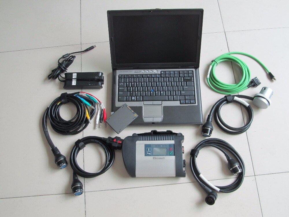 Sd c4 connecter wifi mb star 4 avec ssd super vitesse nouveau logiciel 2019.07 ordinateur portable d630 outil de diagnostic voiture et camion prêt à l'emploi