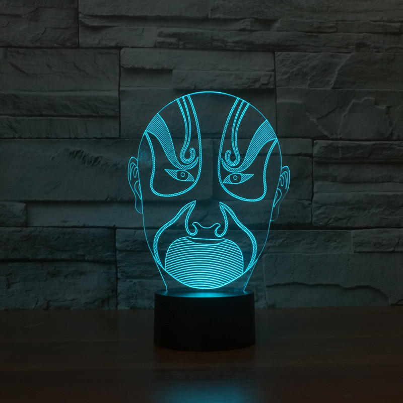Lights & Lighting 100% Quality New Abstract 17 3d Lights Colorful Touch Led Visual Light Gift Atmosphere Desk Lamp
