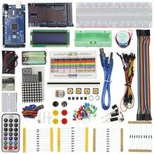 Starter kit для Mega 2560 Servo Двигатель Сенсор модуля 1602 ЖК-дисплей для проекта Arduino обучения AVR MCU учащегося + розничная продажа коробка