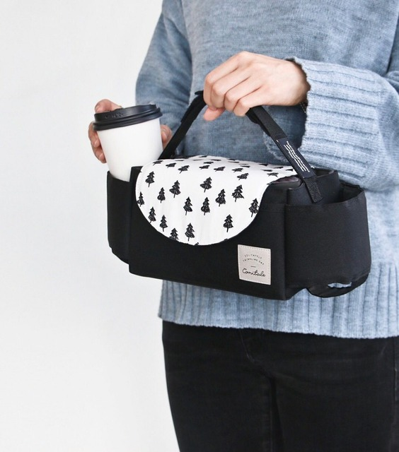 Baby Stroller Organizer And Cup Bag
