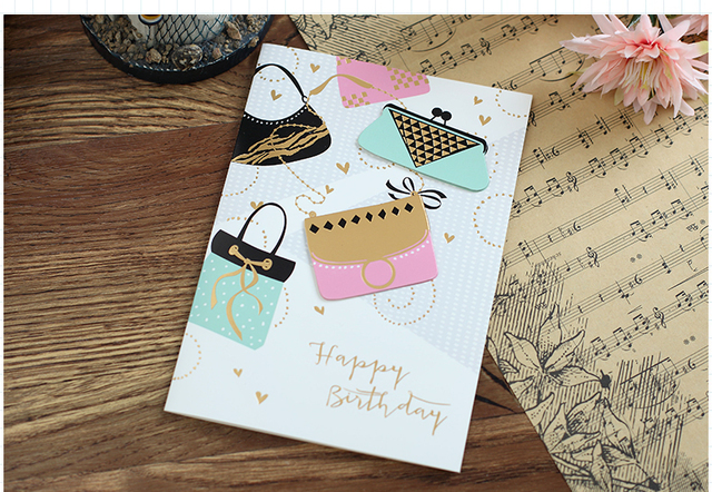 Cheap Small Items Kids Party Gifts Crafts Birthday Card Handmade