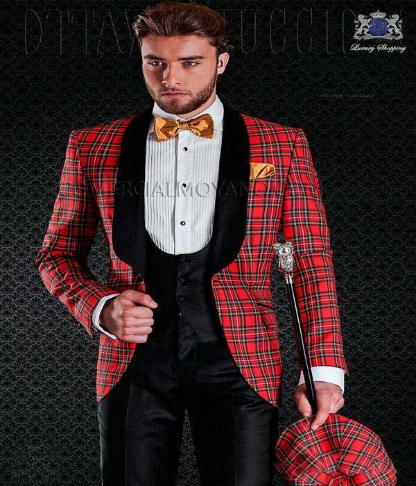 Черные смокинги жениха на одной пуговице с узором пейсли, шаль с отворотом для жениха, лучшие мужские костюмы, мужские свадебные костюмы(пиджак+ брюки+ жилет+ галстук - Цвет: 4