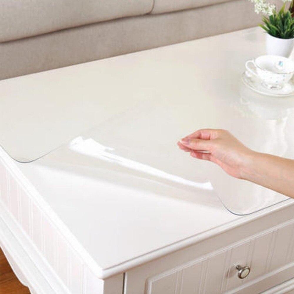 2018 1mm dicke transparente tisch tuch küche tisch abdeckung wasserdicht öl tuch weich glas tischdecke schiff durch rolle hause textil