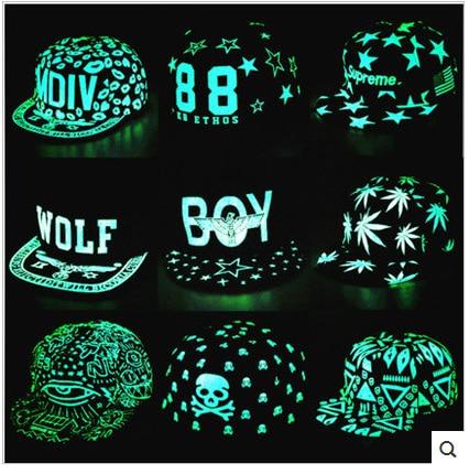 2016 New women hip hop cap male snapback baseball cap female hat ladies noctilucent rap chapeau men brim straight gorras sale цена и фото