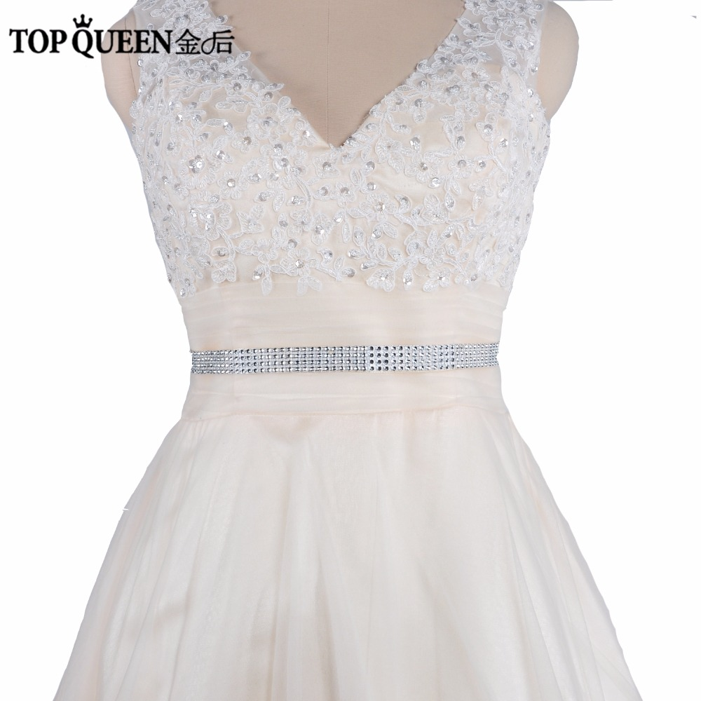 Topqueen Diy Free Shipping Cheap S19 2 Wedding Dress Belt