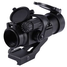 Best price Professional 4 x 32 Green / Red Hunting Rifle Scope Precise Red Laser Holographic Telescope Sight Scope New 2017