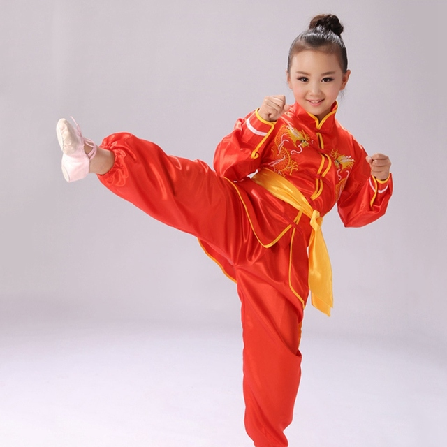 Hot Selling Children's Sets Martial Arts Uniform Kids Tai Chi Wushu Clothing Kung Fu Performance Clothes Outfits Top+Pants