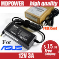 MDPOWER For ASUS EeePC MK90H R101D S1002HA notebook laptop power supply power AC adapter charger cord 12V 3A