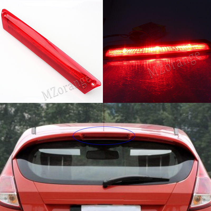 Car High Positioned Mounted Additional Rear Third Brake Light Stop Lamp For Ford Fiesta Hatchback 2009 2010 2011 2012 2013 2014 car rear trunk security shield shade cargo cover for kia sportag 2007 2008 2009 2010 2011 2012 2013 black beige