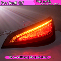 Car Styling For Audi Q5 2009 2015 taillights Dynamic turn signal LED Tail Lights Rear Lamp LED DRL+Brake+Park+Signal Stop Lamp