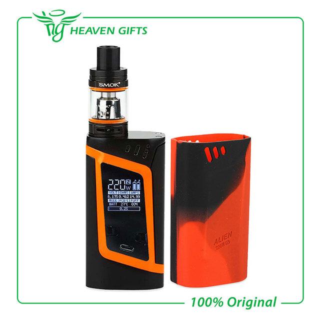100% original smok kit de alien alien 220 w caja mod con 3 ml tfv8 bebé tanque cigarrillo electrónico vape vs smok ultra gpriv extranjero Mod