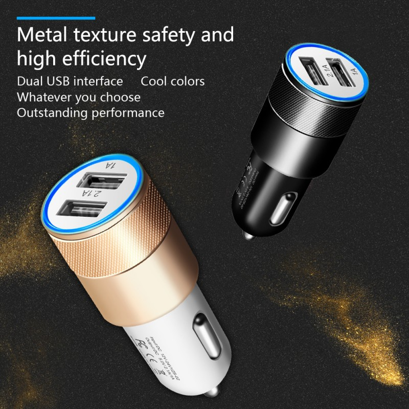 Dual USB SUV Car Charger For Xiaomi Mi 9 8 Lite A2 A1 F1 5 5S Plus Redmi Note 7 Pro 6 5 4 4X 4A 5A 6A Adapter Chargers Cargador (7)